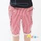 Azio Kids-條紋/素面單鈕釦皮革造型短褲(紅) product thumbnail 1