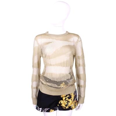 Michael Kors 金蔥感不規則網狀造型針織上衣