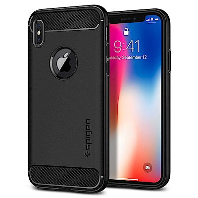 SGP / Spigen iPhone X Rugged Armor-彈性防震保護殼