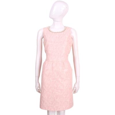 BLUGIRL 粉色珍珠領無袖花苞洋裝