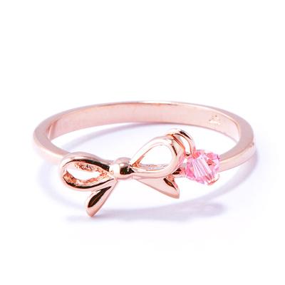 【山本美樹】舞動人生 奧地利水晶戒指 (玫瑰金)