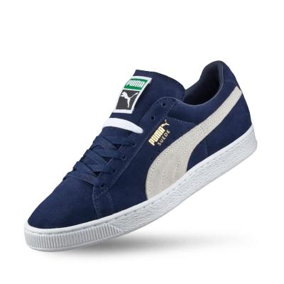 PUMA Suede Classic +男女復古籃球運動鞋-重深藍