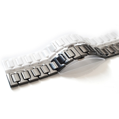 PARNIS BOX 質感陶瓷代用錶帶 20mm 香奈兒 折疊釦 ARMANI