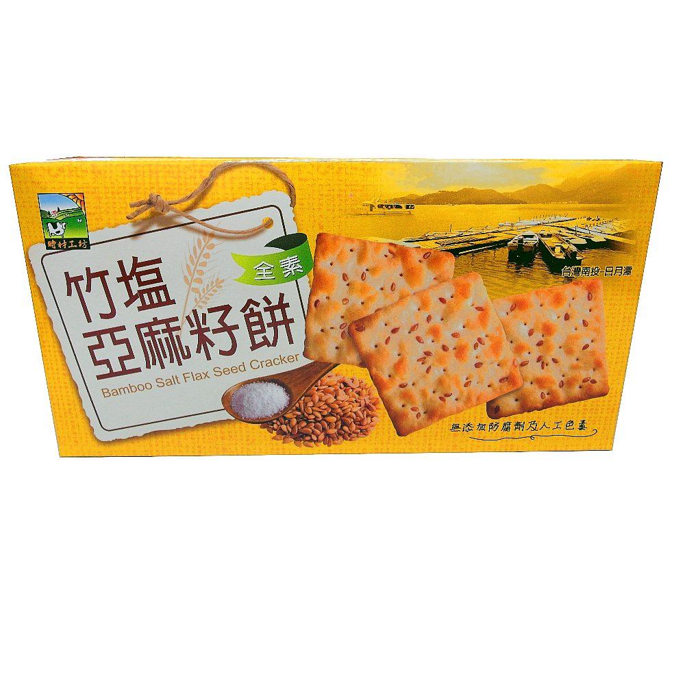 時材工坊 竹鹽亞麻籽餅(115g)