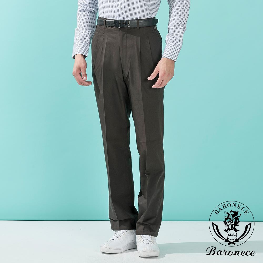 BARONECE 高品味優質雙褶純棉休閒褲_咖啡色(513121-04)