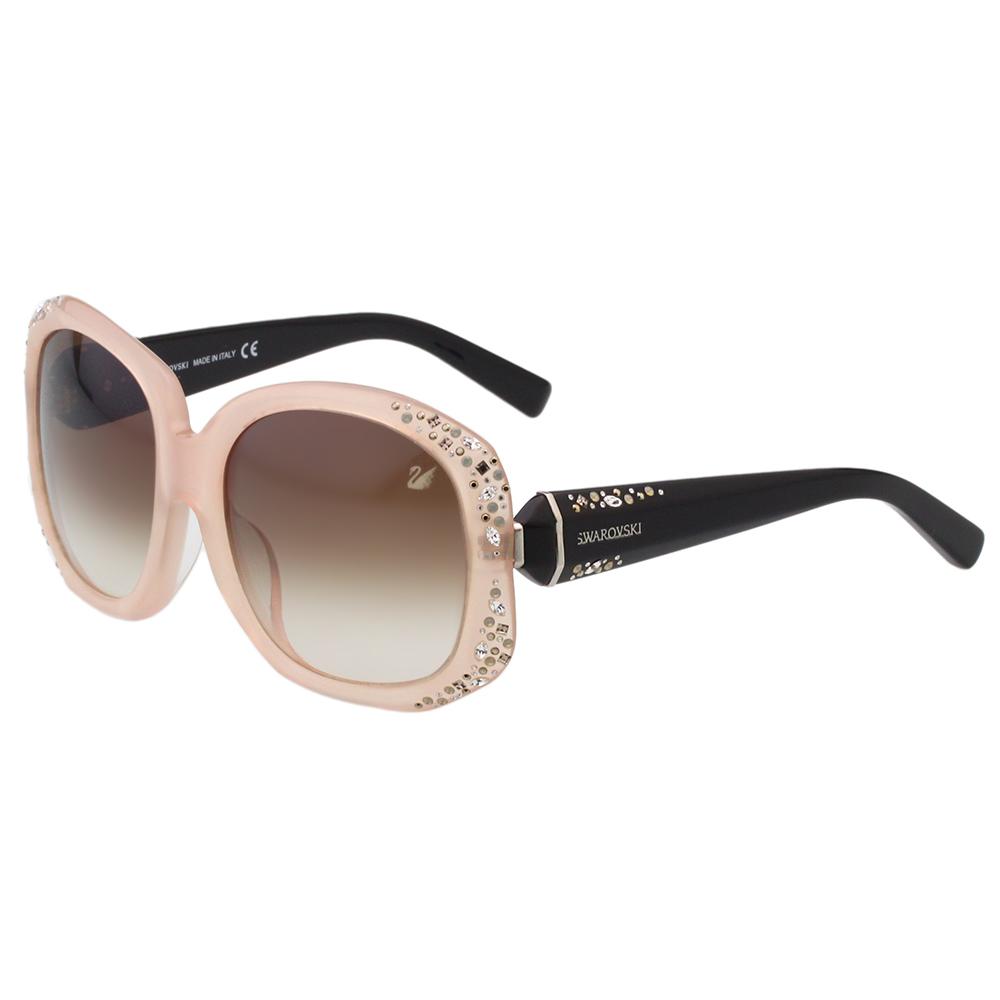 SWAROVSKI太陽眼鏡-氣質名媛-粉膚色-SW9042