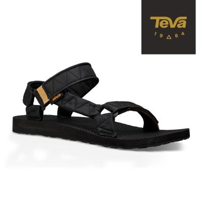 TEVA 美國-男 Original Puff 經典緹花織帶涼鞋 (黑)
