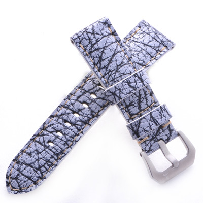 TED SU 太和錶帶 海灘遊俠Panerai 沛納海代用帶白色鯊魚米色線-24*22mm