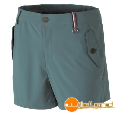 Wildland 荒野 0A31397-37淺綠色女 RE四向彈性抗UV短褲/休閒褲