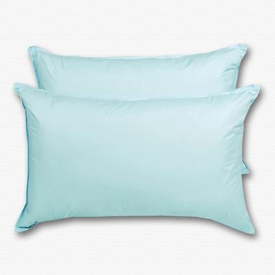 原色布屋 純淨天然羽絨枕 2入 果綠