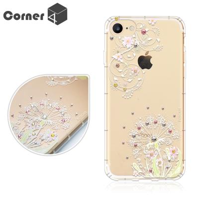 Corner4 iPhone8/7 4.7吋奧地利彩鑽防摔手機殼-彼岸花