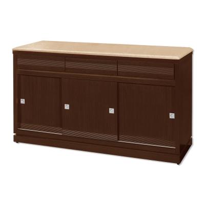 Bernice-斯坦5.1尺推門碗盤收納餐櫃(石面)-153x52x87cm