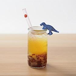 美國strawesome手工玻璃吸管/寬口直式-淺粉(蜜桃粉)