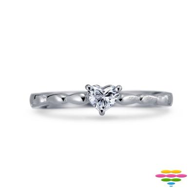 彩糖鑽工坊 10K 愛心鑽石戒指 小確幸系列