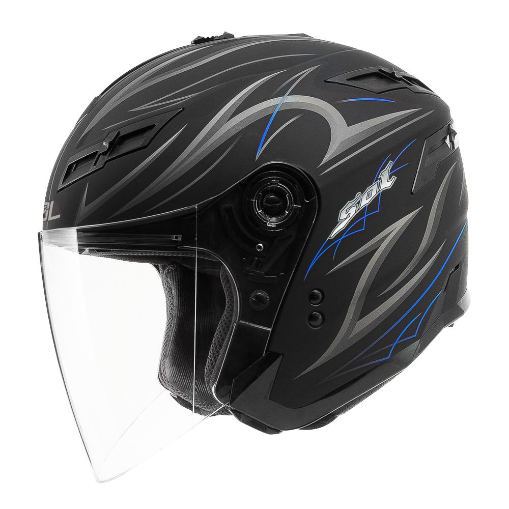 SOL SO-1 DERK II 3/4開放式安全帽(消光黑藍)