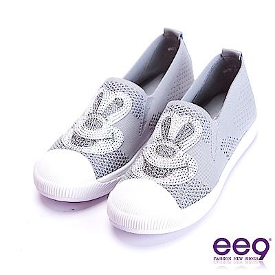 ee9 極致美學鑲嵌水鑽圖騰平底休閒鞋 灰色