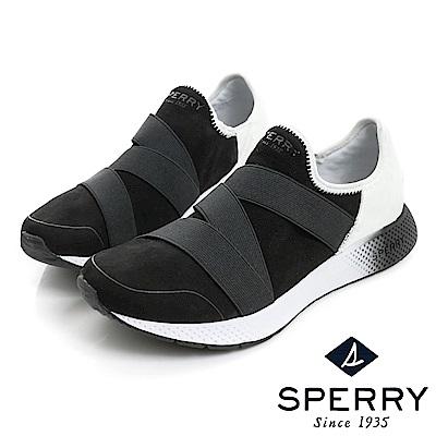 SPERRY 7SEAS 舒適感受粉嫩運動休閒鞋(女款)-黑白