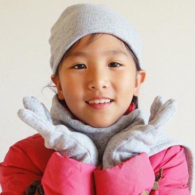 【CoFeel酷咖絨】咖啡混紡兒童時尚保暖帽-灰色