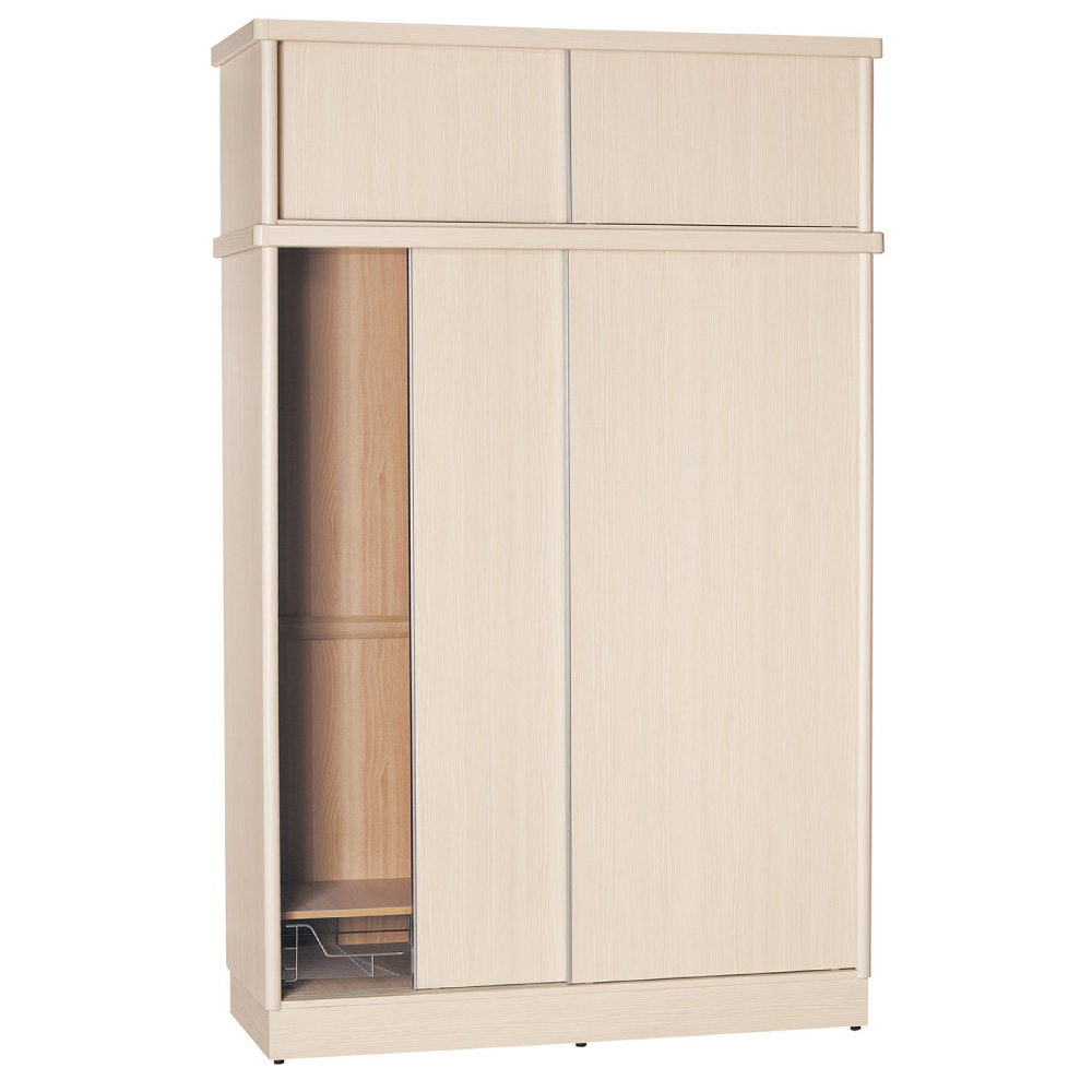 品家居 加菲多6尺推門衣櫃(五色可選)-180x60x238.5cm-免組