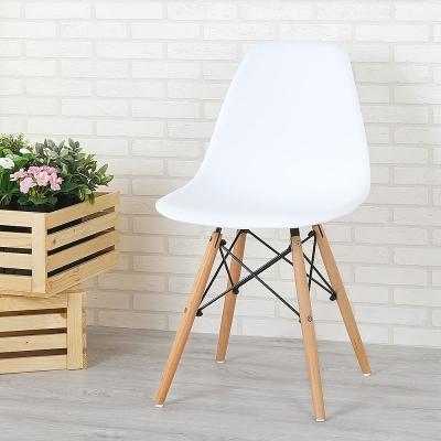 Homelike 歐斯造型椅(亮麗白)-46x41x82cm