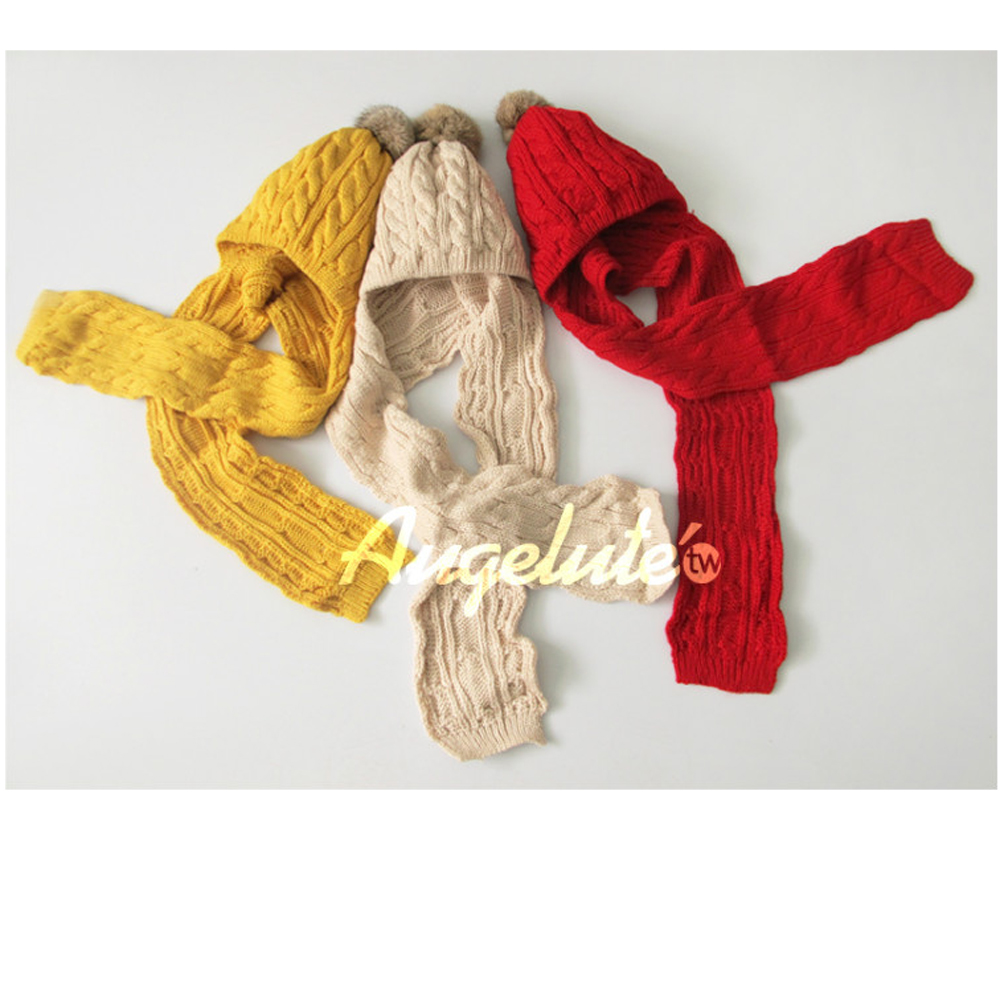 【baby童衣】韓版兒童帽子圍巾連體套帽寶寶毛線帽子F1038