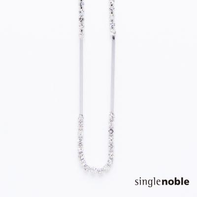 獨身貴族 低調奢華簡約幾何水鑽串接項鍊(1色)
