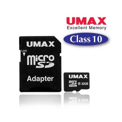 UMAX MicroSDHC 32GB Class10 記憶卡(含轉接卡)