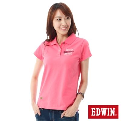 EDWIN BLUE TRIP斑駁貼布POLO衫 -女-粉紅
