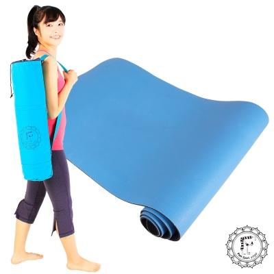 Fun Sport yoga I m太陽花雙優瑜珈墊-藍天素色版(送束帶+瑜珈背袋)