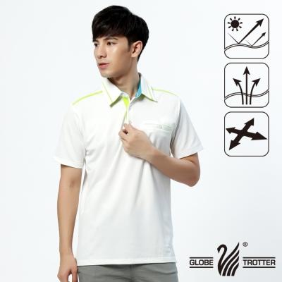 【遊遍天下】男款抗UV吸濕排汗機能POLO衫GS10019白色