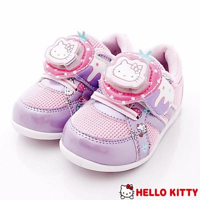 HelloKitty童鞋-甜心蛋糕電燈運動款-715913紫(中小童段)N