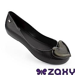 Zaxy 巴西 女 熱戀甜心平底娃娃鞋-黑色