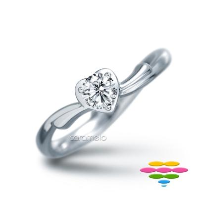 彩糖鑽工坊 19分鑽石戒指 愛心鑽戒 愛戀系列
