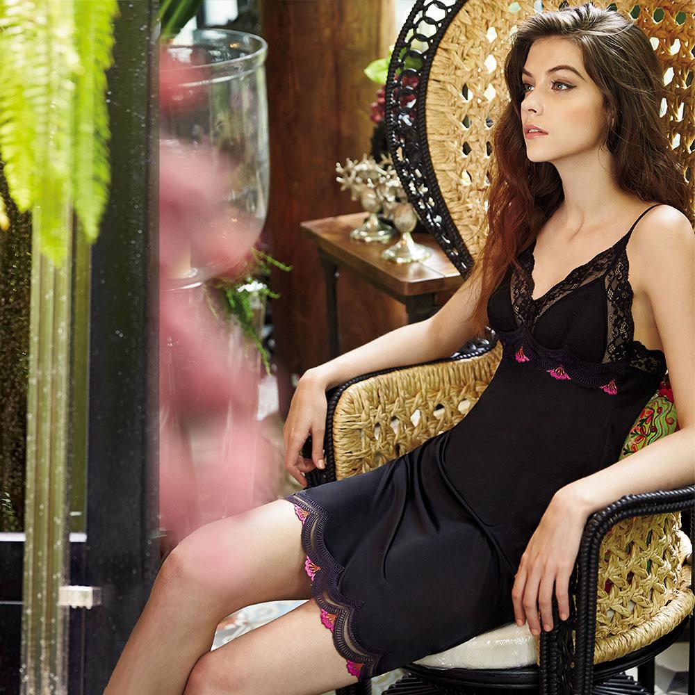 曼黛瑪璉 法式香吻 襯裙 M-XL(黑)