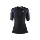CRAFT DELTA女款運動壓縮短袖上衣 黑/紫
