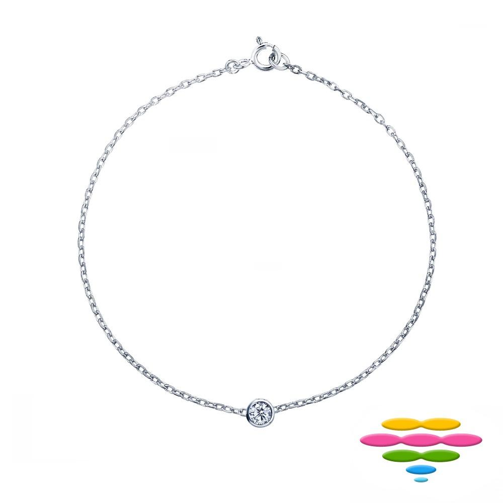 彩糖鑽工坊 9分 鑽石手鍊 包鑲鑽石手鍊 圓舞曲系列