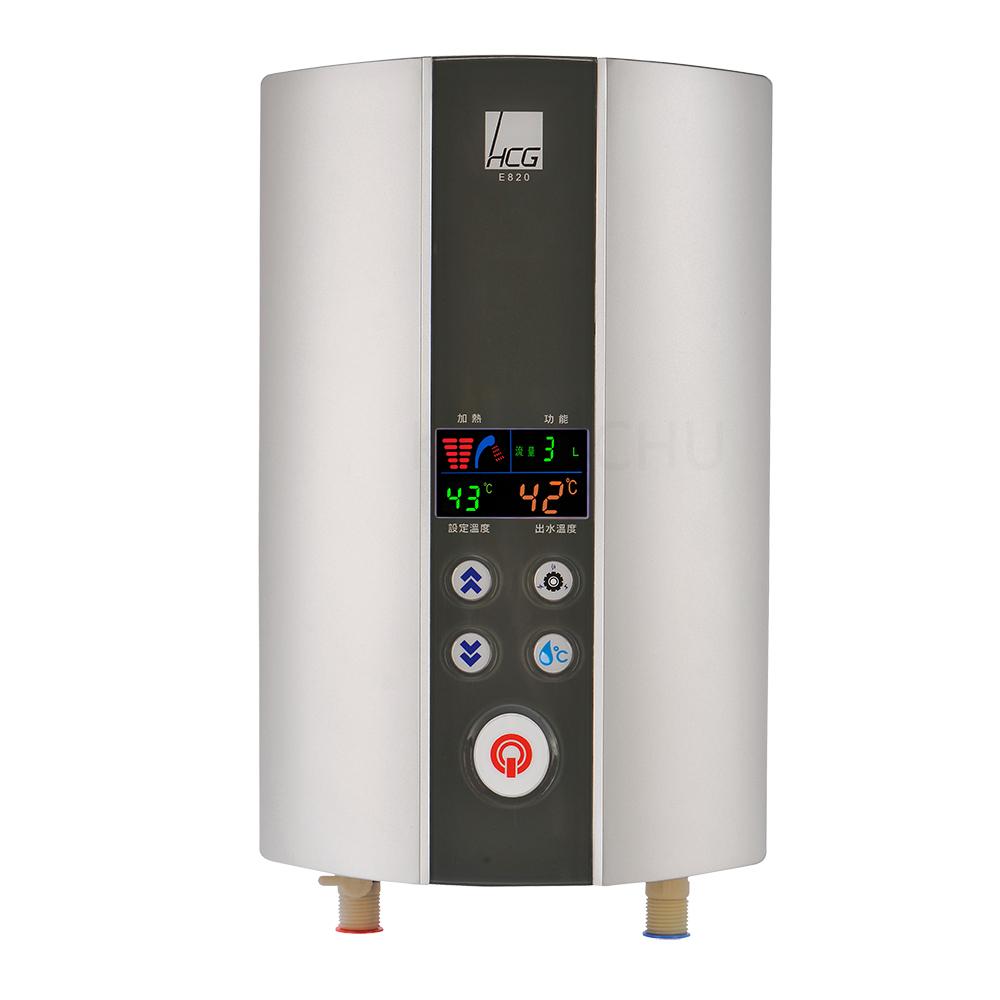 和成HCG 智慧恆溫LCD液晶顯示瞬間加熱電能熱水器(E820)
