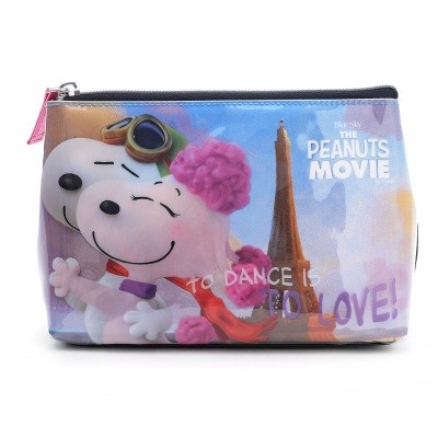 sun-star 史努比 The Peanuts Movie系列大容量皮革筆袋(共舞巴黎)