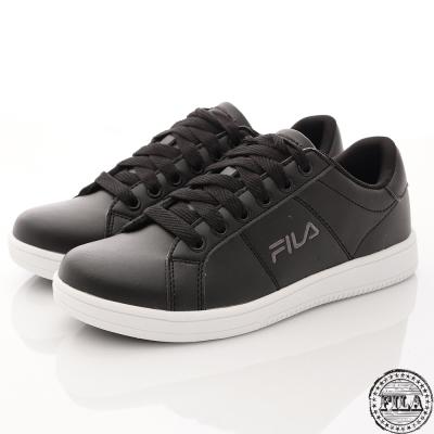 Fila 情侶款休閒鞋復古低筒黑白色~1-C374R-000