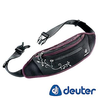 【ATUNAS 歐都納】德國DEUTER休閒旅遊防竊/慢跑隨身貼身輕量腰包39040黑紫