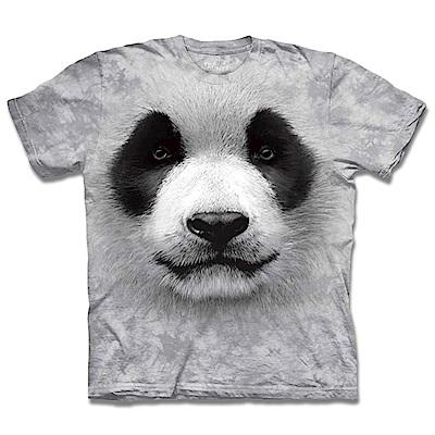 摩達客 美國進口The Mountain 熊貓胖達臉 純棉環保短袖T恤