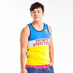 Private Structure 國家系列-台灣設計款限量拼接運動背心(黃色)