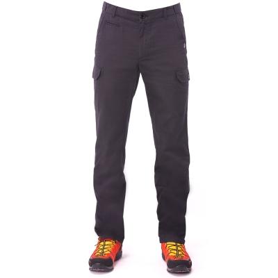 【hilltop山頂鳥】男款HITEC輕量吸濕快乾抗UV合身長褲S07M99-黑