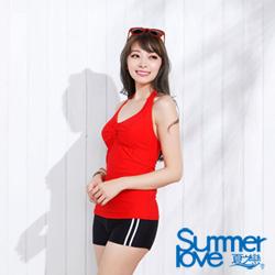 夏之戀 TRAVEL FOX  小露性感長版兩件式泳裝