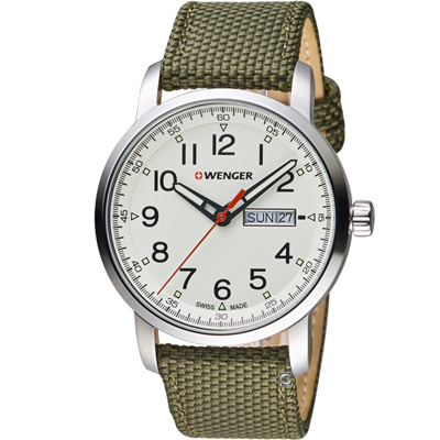 WENGER Attitude系列 野營生活時尚腕錶(01.1541.110)42mm