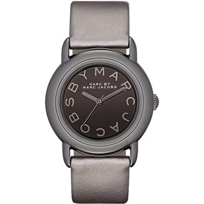 Marc Jacobs 品牌玩家時尚腕錶-鐵灰/32mm