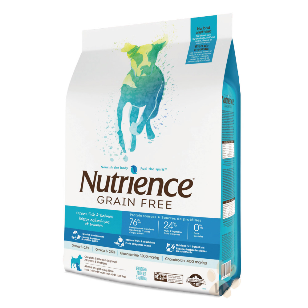 美國Nutrience紐崔斯 無穀多種鮮魚犬糧 2.5kg 1入