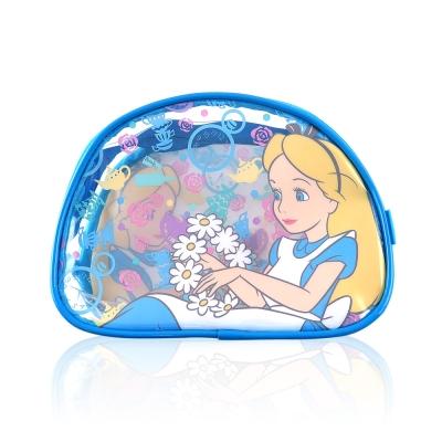 Disney迪士尼經典防水透明愛麗絲化妝包 萬用包