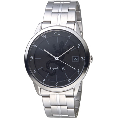 agnes b.蜥蜴經典時尚個性腕錶(VJ52-00A0D)-40mm