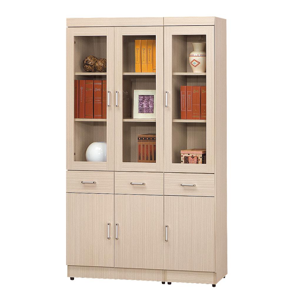 AS 塔克白橡色中抽3.9尺書櫥 119x32x185cm